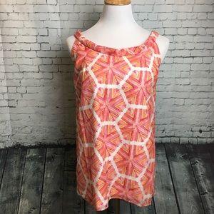 Lilly Pulitzer Geometric Tank Top Pink Orange  8